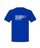 T-shirt blauw achterzijde
