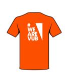 T-shirt oranje achterzijde