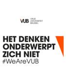 VUB logo T-shirt blauw