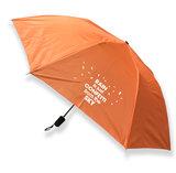 Handtasparaplu 'Rain is just confetti from the sky' oranje