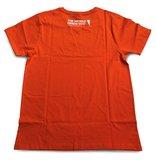 Achterzijde Oranje T-shirt met opdruk 'Vrije Universteit Brussel'