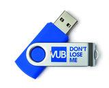 USB stick 8GB blauw don't lose me