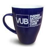 Koffiemok blauw 'Inspire motivate teach care'
