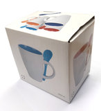 Verpakking van Koffiemok met lepeltje 'Stay strong care along'