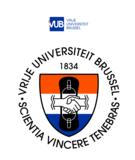 VUB Logo T-shirt 2020 wit