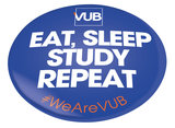 Butten 'Eat sleep study repeat'