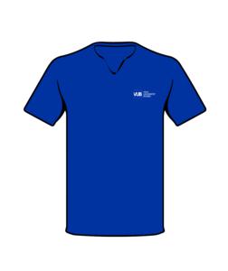 T-shirt blauw voorzijde