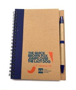Notitieboekje ECO met pen blauw, voorzijde