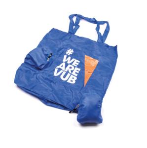 Shopping tasje opvouwbaar blauw