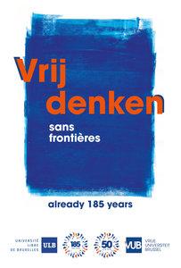 Poster Vrij denken, editie feestjaar 50 jaar VUB
