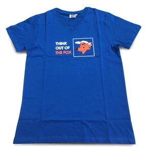 Blauwe T-shirt voorkant met VUB Vos