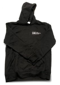 Hoodie zwart met VUB logo