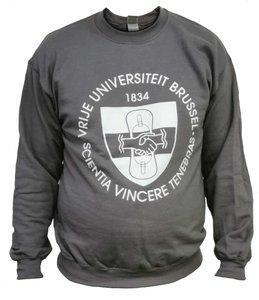 Grijze sweater met VUB Embleem